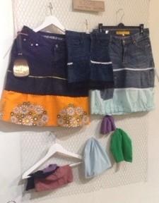 kjolar av återvunnet material